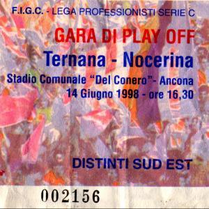1998-06-14. Ancona. Finale Play-off (Ternana-Nocerina). Biglietto