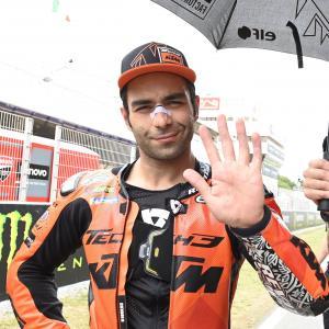 MotoGp: Petrucci archivia il GP della Catalunya Petrucci con una caduta